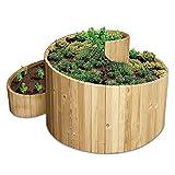 bellissa Kräuterspirale Holz - 95480 - Kräuterschnecke aus Nadelholz - Vormontierter Bausatz inkl. Trennfolie - 120 x 120 x 20/80 cm