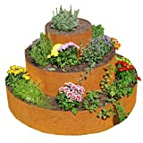 prima terra Pflanzenpyramide Edelrost, Pflanzringe, Kräuterpyramide, Beet, Baumringe Ø=120cm Gesamthöhe=75cm