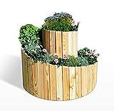 Koll Living Garden Kräuterspirale aus Lärche - Durchmesser 75-100 cm x H 24-74 cm - die Kräuterschnecke ist auch als Blumenbeet nutzbar