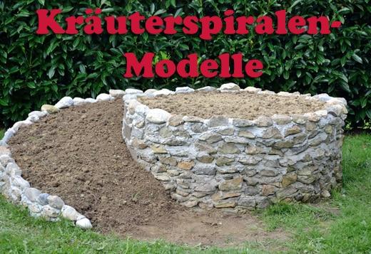 Kräuterspiralen Modelle